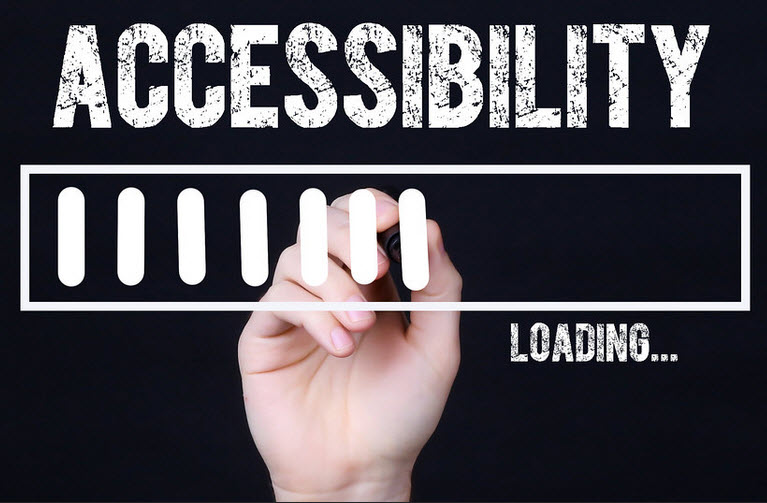 The word Accessibility and the words loading.....