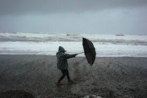 Storm at beach